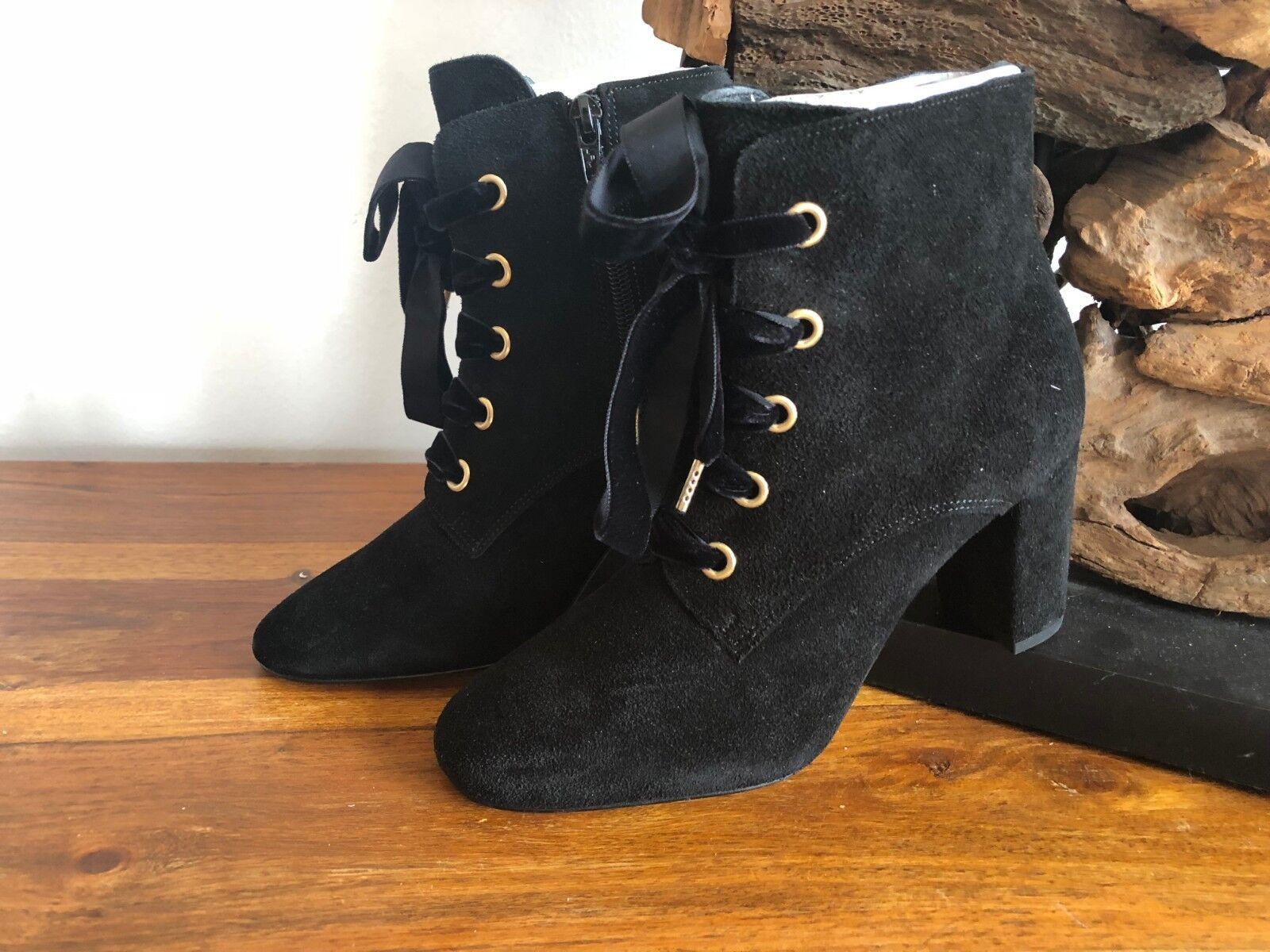 Sienna bottes Bottines Cuir noir Connecté Neuf 40 s103d