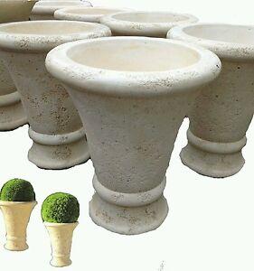 Vasi Alti Da Esterno.Dettagli Su Vaso Vasi In Cemento Cono Da Giardino Esterno Moderni Esterno Rustico Alti