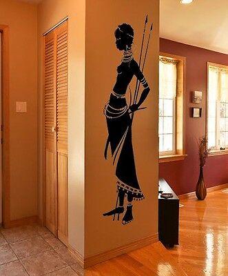 HOUSEWARES TRIBAL AFRICAN WOMAN VINYL WALL ART DECAL STICKER INTERIOR HOME DECOR