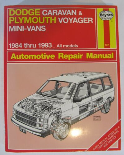 1984 1993 dodge caravan plymouth voyager automotive repair manual rh ebay com 1994 Plymouth Voyager Fuse Box 1993 Plymouth Voyager Transmission Diagram