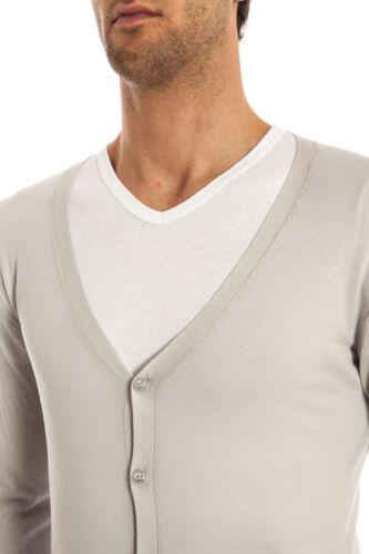 Grigio Sweater Uomo Cardigan Cotone Fm53169l3401 4 Maglia Alessandrini Daniele P1w1xCRqO