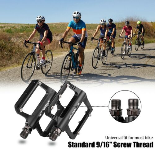 Bike Pedals MTB Mountain Road Bicycle Aluminum Wide Flat Platform Bearing 9//16/'/'