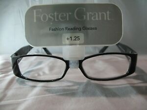 9f3b8ac7e96 Foster Grant Kailyn Black Reading Glasses +1.00 1.25 1.50 1.75 2.25 ...