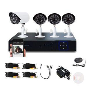 1/4 Coms 4CH 960H ONVIF HDMI CCTV DVR 900TVL Camera Home Security System Kits EK