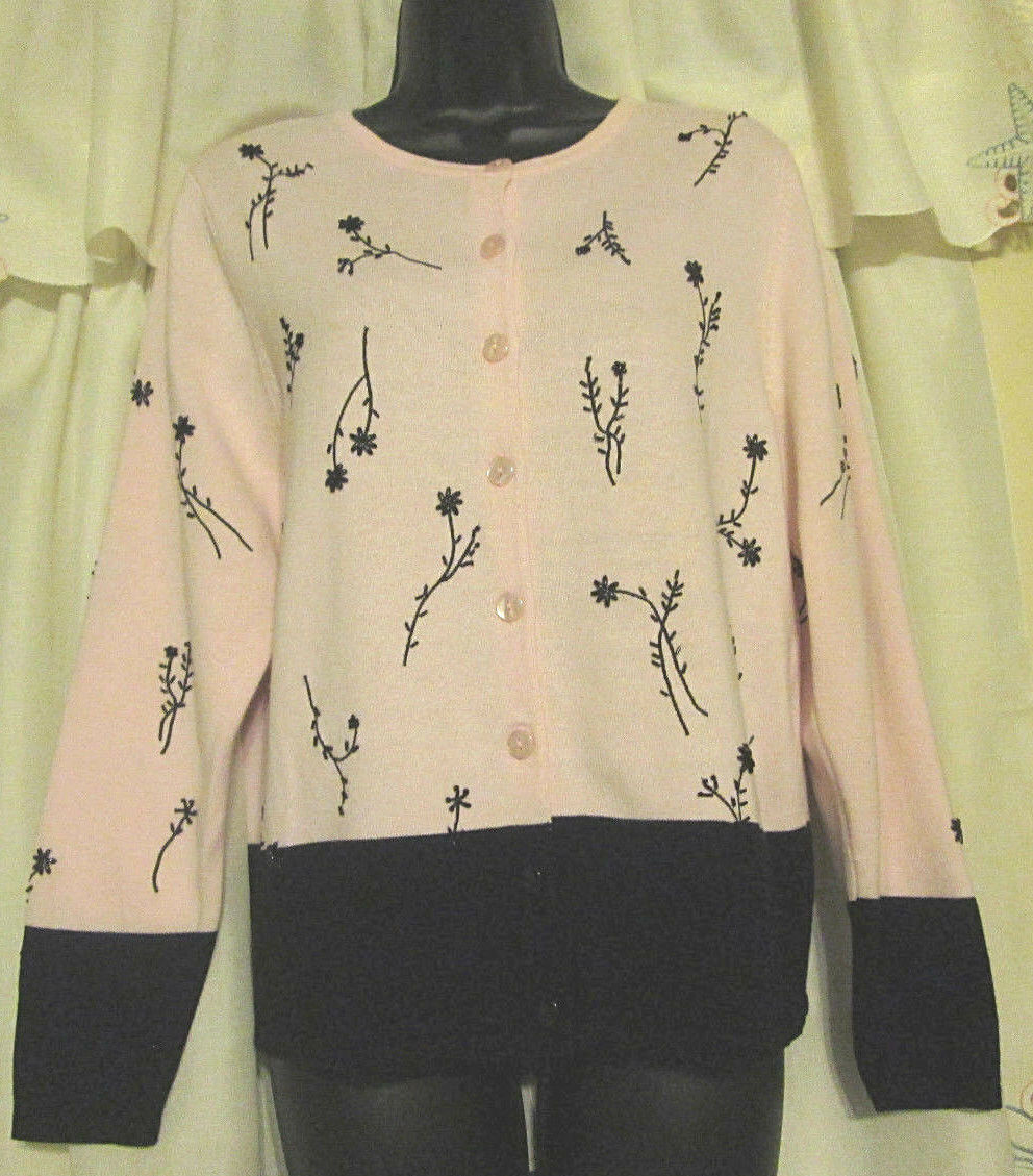 Dressbarn Button Up S Cottagecore Embroidered Sw… - image 3