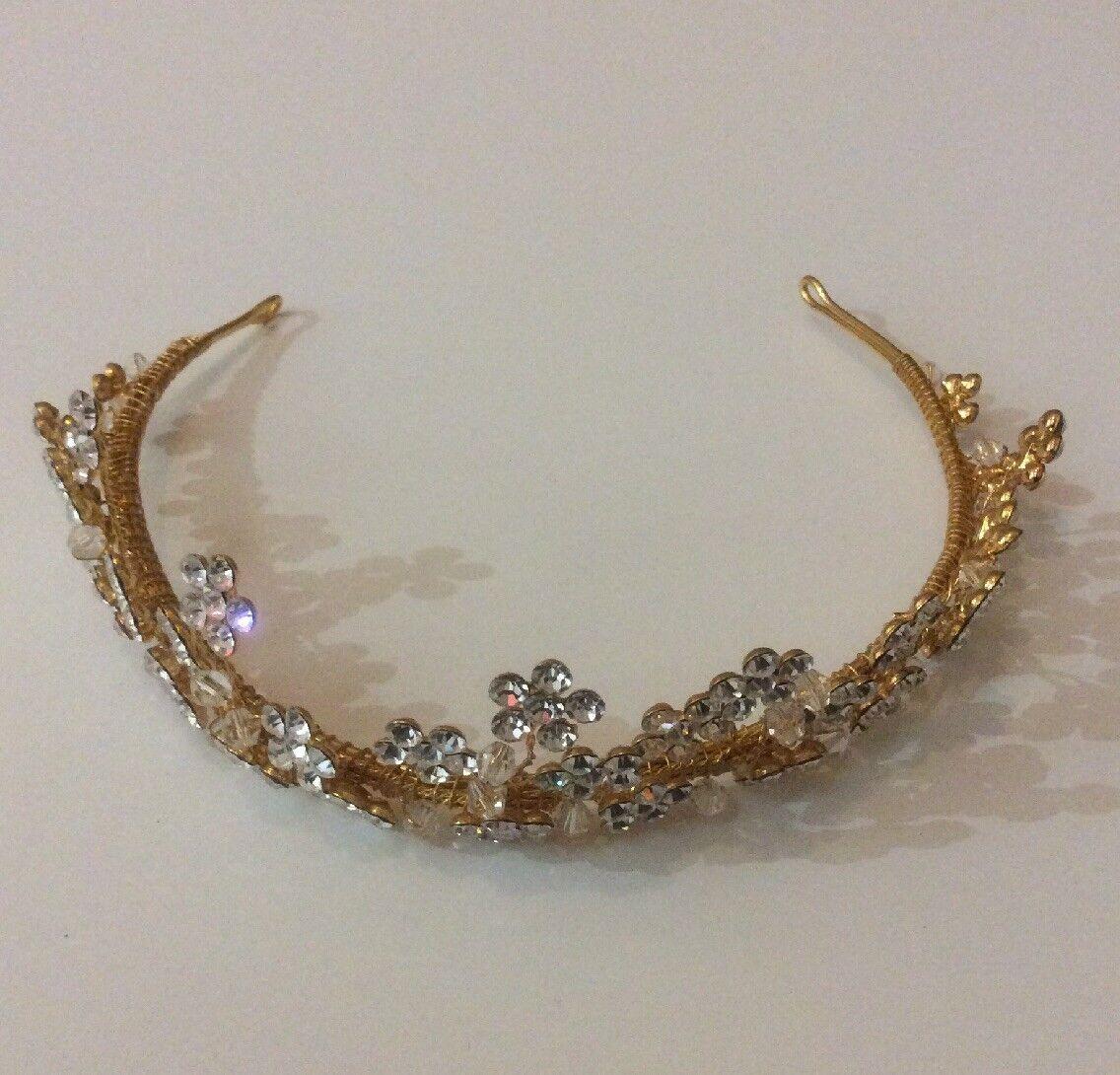 Gold Crystal Wedding Tiara