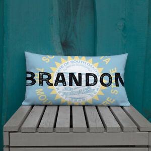 Brandon South Dakota State Flag Background Premium Pillow Ebay
