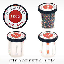 IZOD 3 pc Gift SET Navy LOBSTER Print TIE & ORANGE Shoelaces & SILVER TIE BAR