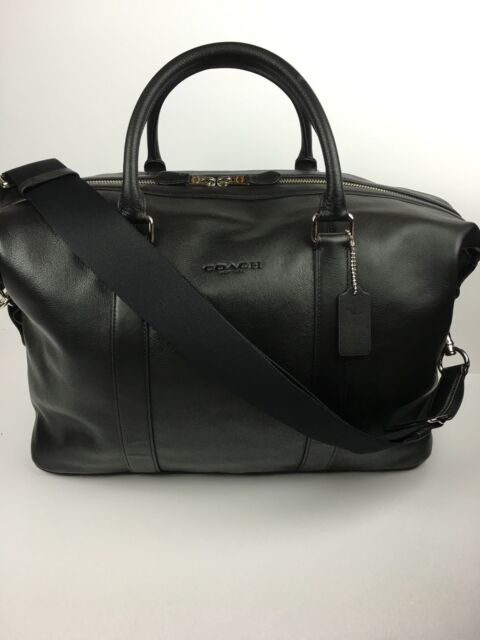 Coach F54765 Voyager Duffle Overnight Travel Gym Men S Leather Black Nwt