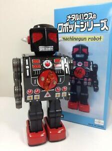 Metal-House-Robot-Series-Machinegun-Robot-Electric-Walking-Showa-Retro-Vintage