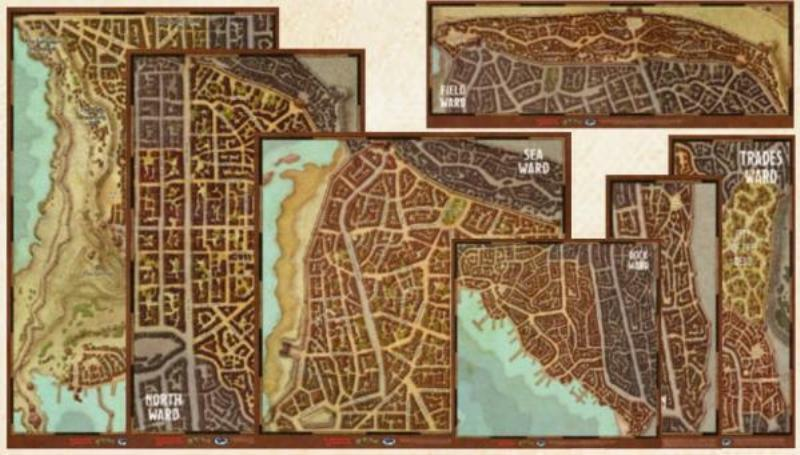 DUNGEONS & DRAGONS DRAGONS DRAGONS 5th - Waterdeep Wards Map Set RPG 970