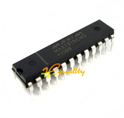 10PCS IC MAX7219CNG MAX7219 DIP-24 DRIVER LED DISPLAY 8DGT NEW GOOD QUALITY