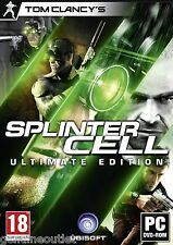 Splinter Cell Ultimate Edition Double Agent Conviction Chaos Theory PC 5 Games