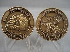 Marine Corps Mascot Bulldog Challenge Coin USMC Devil Dog Semper Fidelis Militar