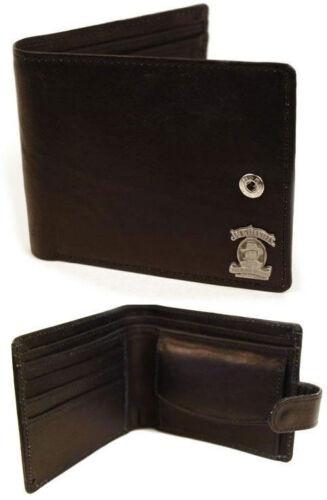 Mr Jack Leather Bi Fold Wallet With Coin Pocket New /& Official Jack Daniels