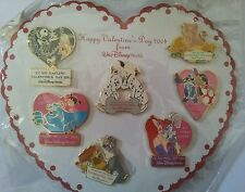 Disney's 2004 Valentine's Day Sweetheart Collection VHTF 7 Pin Set
