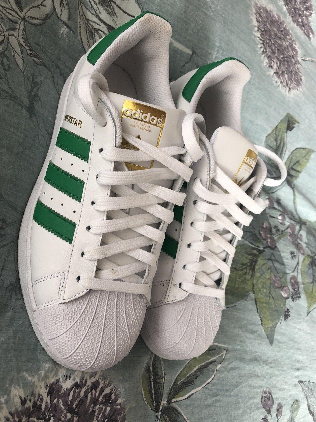 Zapatos promocionales para hombres y mujeres Adidas Superstar Trainers Unisex ~ Size 6.5