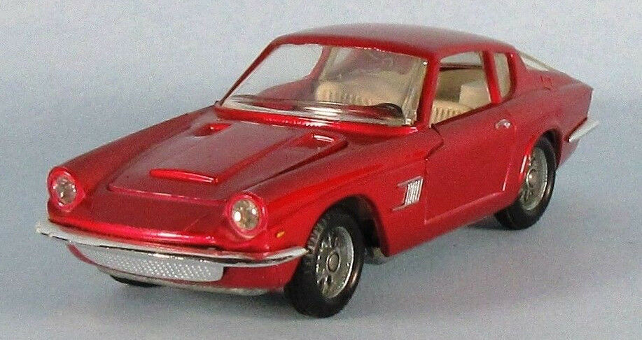 POLITOYS 1967 Maserati Mistral Coupe (Red) 1 41 Scale Diecast Model ULTRA-RARE