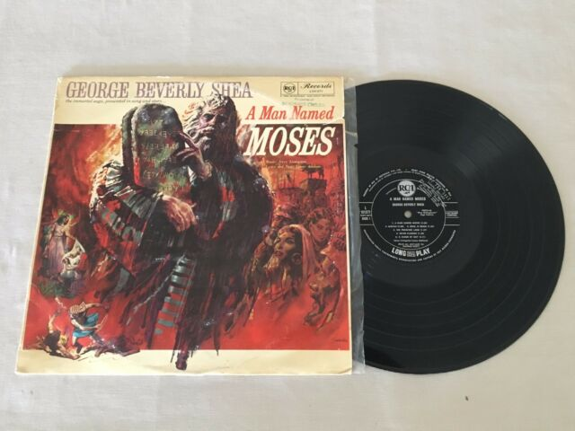 GEORGE BEVERLY SHEA A MAN NAMED MOSES SAMPLE PROMO AUSTRALIAN RELEASE LP