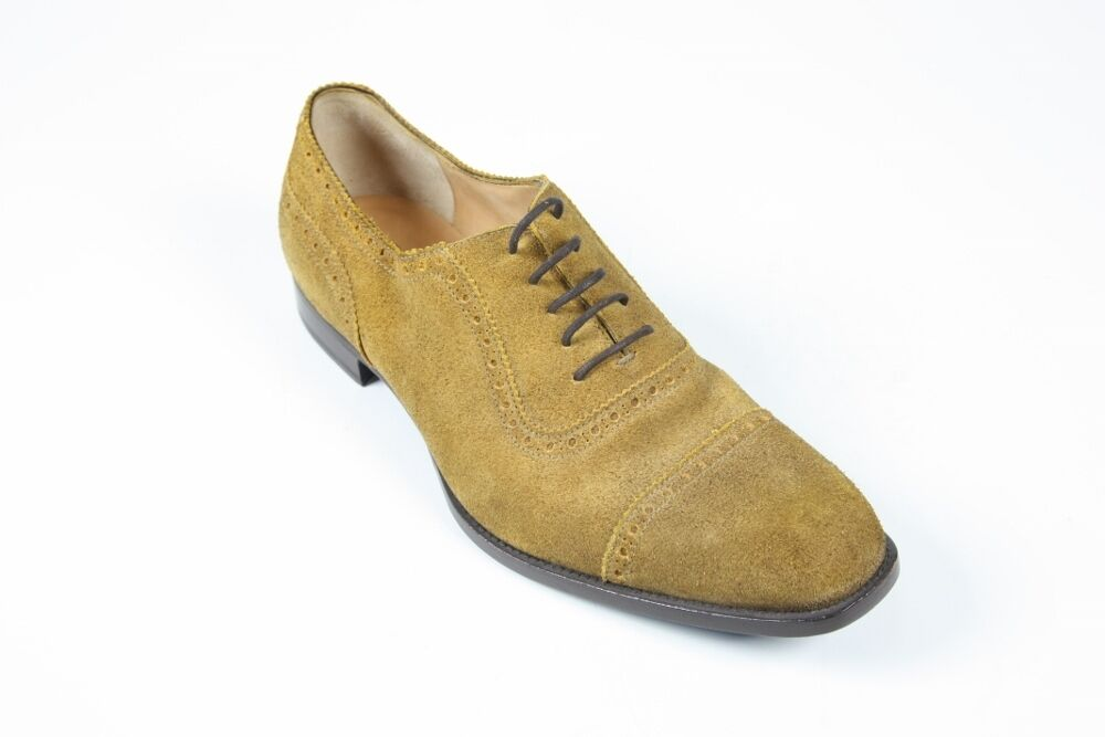 Sutor Mantellassi Zapatos  8 UK   9 nos Amarillo Sand Suede captoe Oxfords