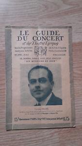 El Guía de La Concierto Y Las Teatro Letra - Victor Prahl - N º 26-1928
