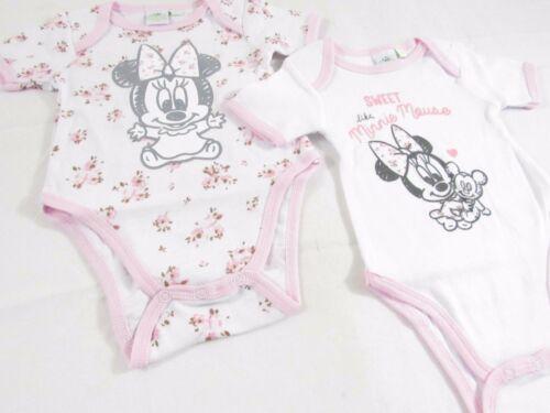 diverse fantasie 2 Body neonato bimbo da 1 a 18 mesi DISNEY minnie e topolino