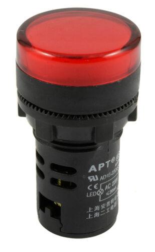 Luz Piloto Led 22mm indicador de advertencia Lámpara Panel de montaje 220v