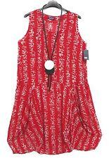 Sarah SANTOS serico palloncino vestito dress robe 50% SETA SETA XL 48 50 Lagenlook