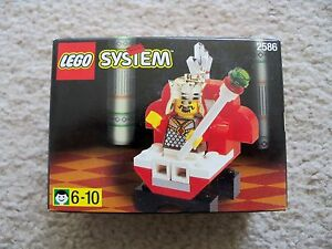 LEGO-System-Castle-Super-Rare-2586-King-amp-Throne-Chess-King-New-amp-Sealed