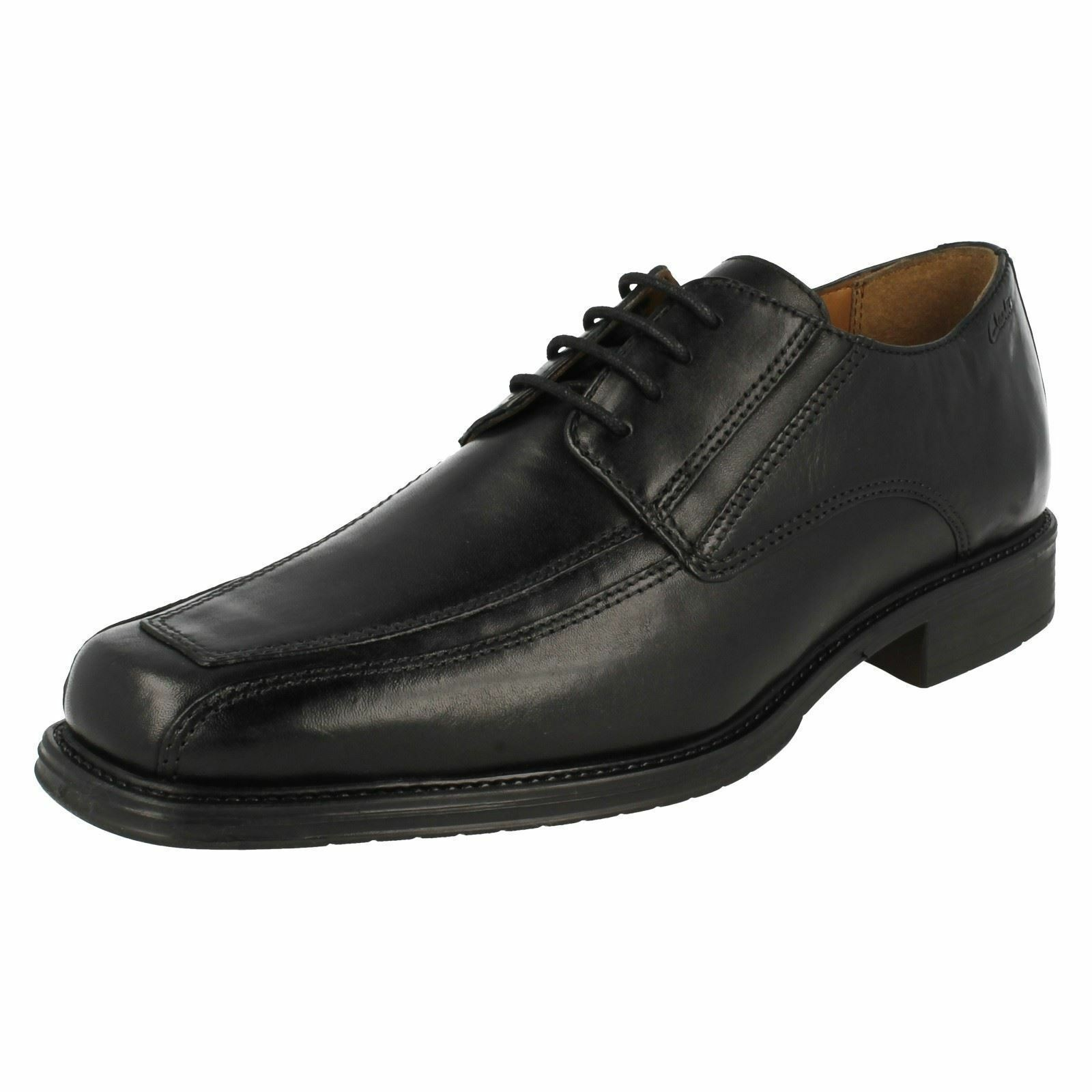 MENS CLARKS SMOOTH LEATHER CLASSIC FORMAL SMART LACE UP SHOES DRIGGS WALK SIZE