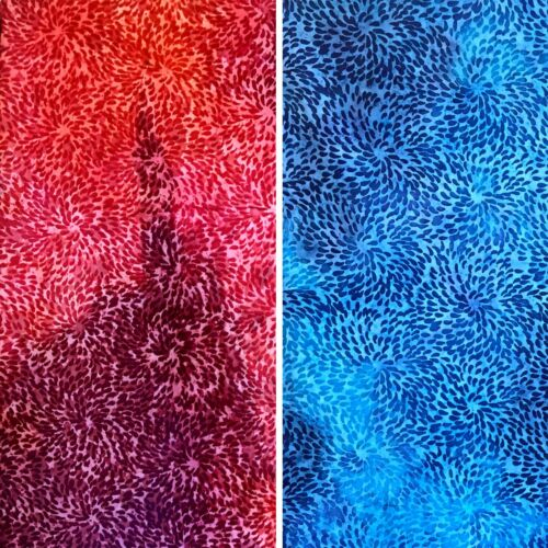 By The Metre Water Droplets 100/% Cotton Fabric Batik Tear Drops Design