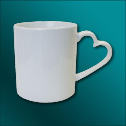 Foto oder Spruch Keramiktasse Herzhenkel mit eigenem Druck Bild