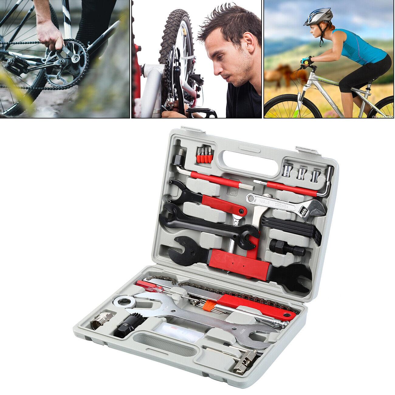 Bike Bicycle Tyre Repair Tools Multi-functional  Full Set Portable Kits