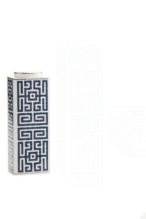Richard Ginori - Labirinto noir - Vaso contenitore h cm 22,5x8x6 - Giò Ponti