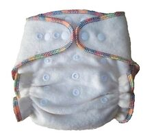 Hemp/Organic Cotton Fitted Cloth Diaper & TWO Inserts One Size Fits 7-25lbs