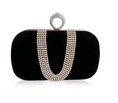 Luxury Handbag Party Prom Clutch Evening Bag Purse Shinny Rhinestones #SF1026-3