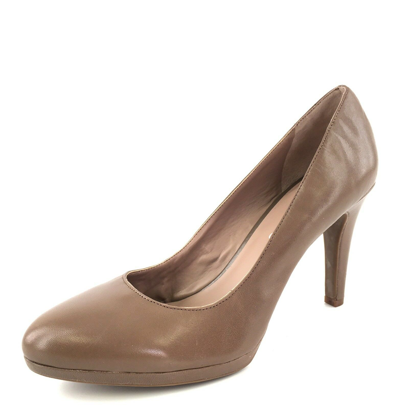 New Franco Sarto Darren Brown Leather Almond Toe Pumps Heels Women's Size 9 M