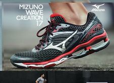 MIZUNO WAVE CREATION 17 MEN'S RUNNING TRAINING SHOES BLACK/red/silver SIZE 7.5