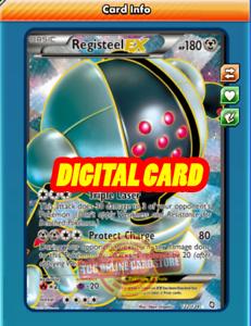 PTCGO, Digital Card FA Registeel EX FULL ART 122//124 for Pokemon TCG Online