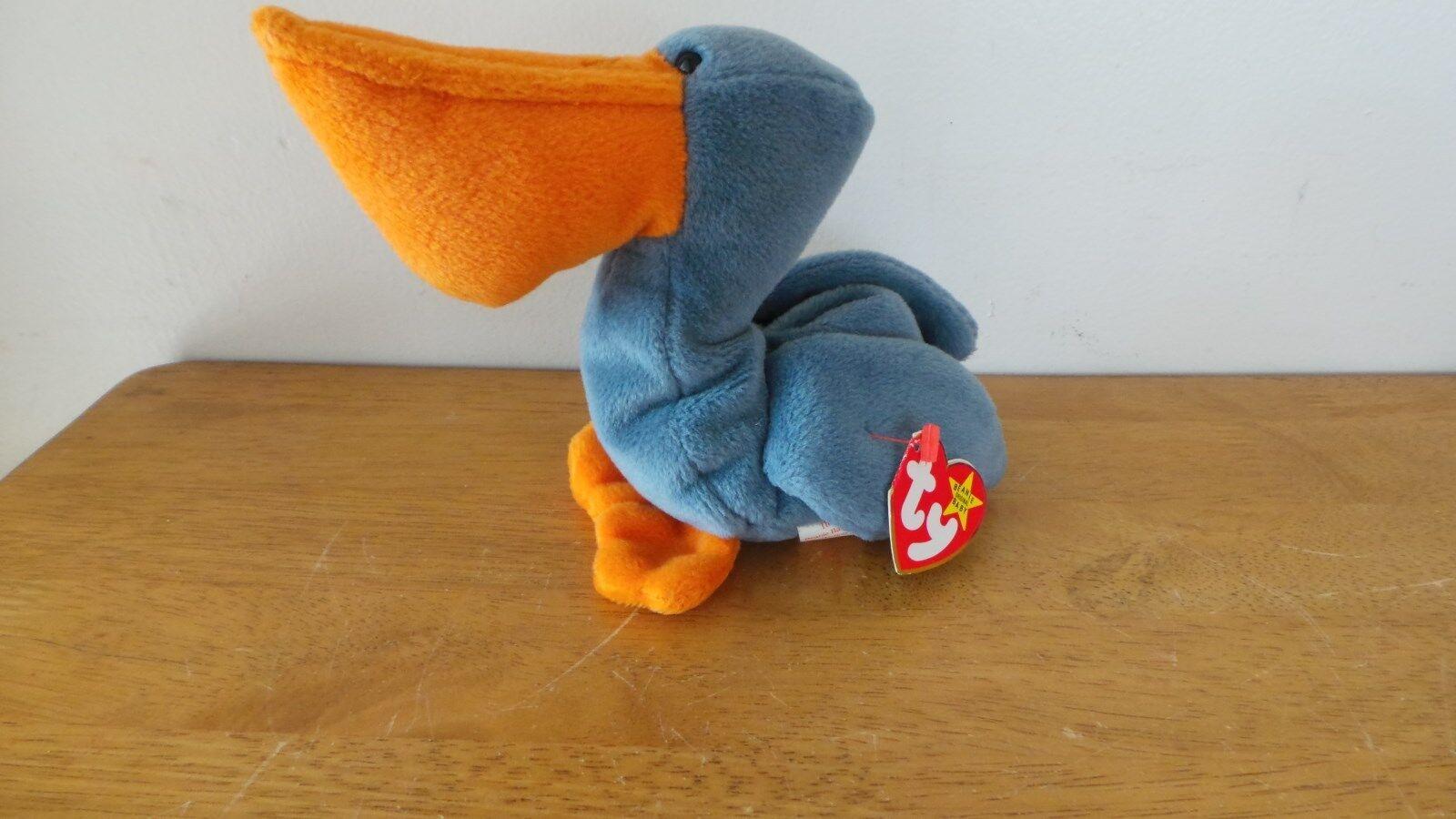 Scoop the Pelican Ty Beanie Baby DOB July 1, 1996