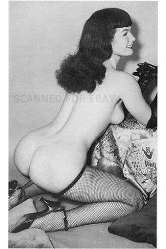 Model nude girl art print butt female woman picture photo BETTY-bz