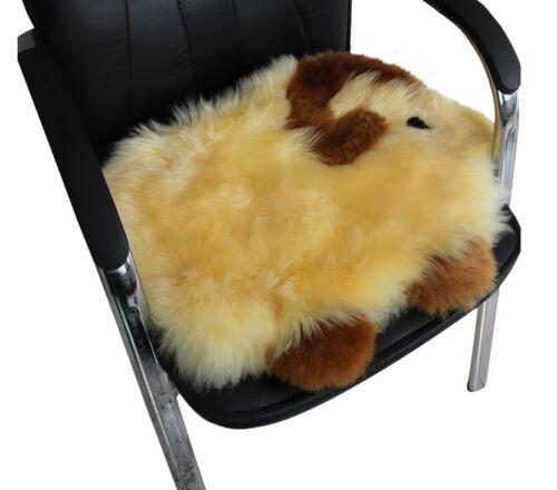 Beige Goat Premium Quality Australia Sheep Skin Wool Car Home Seat Cushion Cover