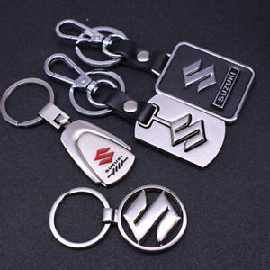 Metal-alloy-Leather-car-logo-Keychain-Key-Ring-pendant-Key-Holder-Fit-For-Suzuki