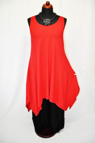 Lagenlook short line 48 rouge XL denim xxl 50 44 dress 46 Jersey dress A rc6v15BSWr