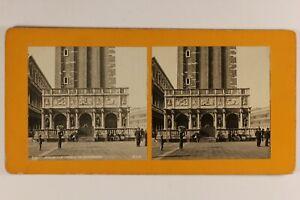 Italia Venezia Animato Loggetta Da Sansovino c1900 Foto Stereo Vintage Analogica