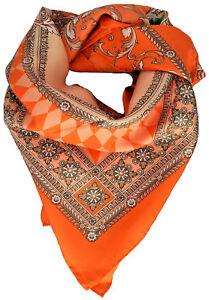 rivenditore online ac1c6 550b4 Sciarpa Foulard Arancione Unisex Versace Scarf Orange ...