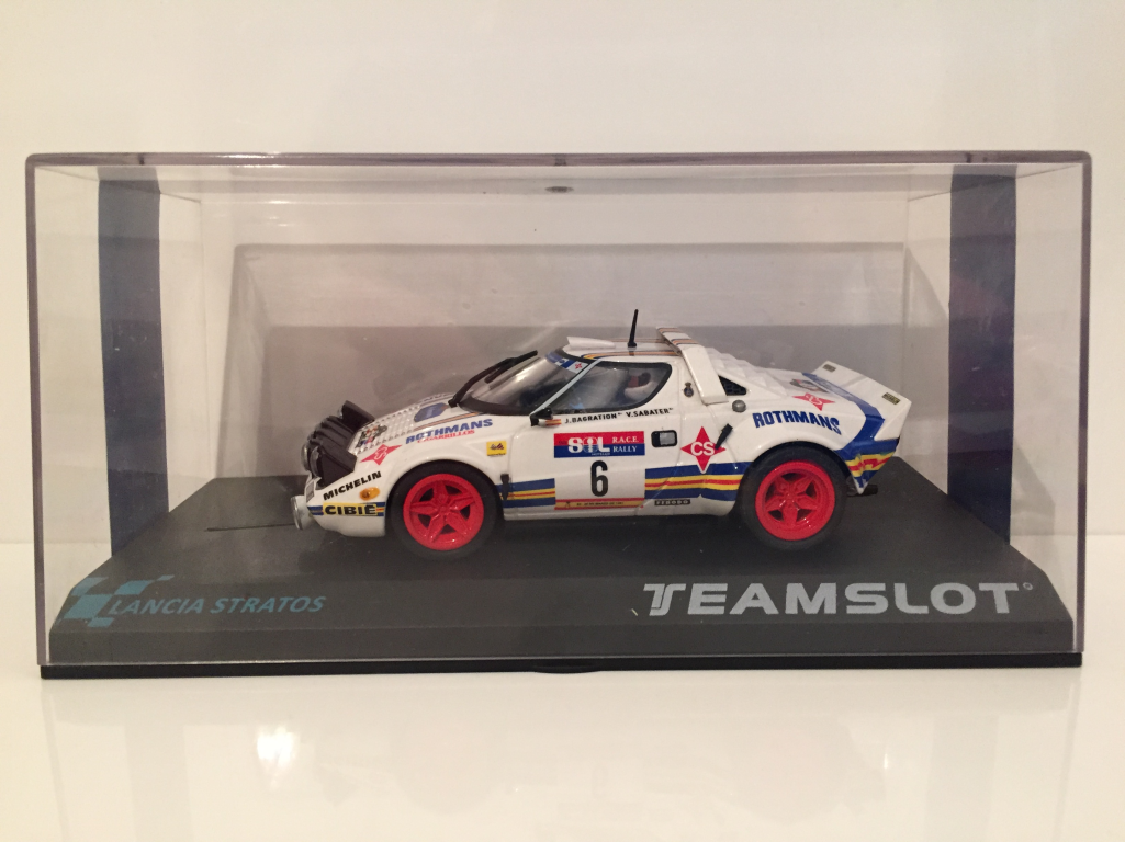 Team Slot 11511 Lancia Stratos R.a.c.e 1981 rossohmans Nuovo 1 3 2 Scala