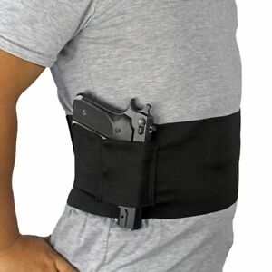 Concealed-Carry-Waist-Holster-Ambidextrous-Belly-Band-Slim-Wrap-Handgun-Carrier
