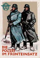 German WW2 Polizei Waffen SS Officer Poster