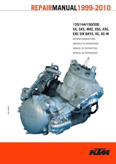 New Ktm Engine Service Workshop Manual 1999